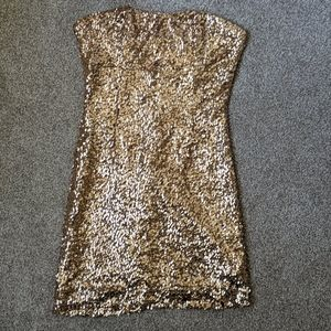 Rosegold sequin mini dress